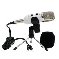 Mikrofonlar -F100TL USB Kondenser Ses Kayıt Ses İşleme Kablolu Mikrofon YouTube Oyun Yayını İçin Standı Ile