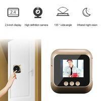 2,4-Zoll-Peephole-Kamera Wifi Startseite sichtbar Cat Eye intelligente Türklingel Stimme Telefon Intercom-Überwachungskamera drahtlose Türklingel