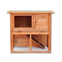 Waco 36-inch Chiken Coop Cage Tavuk Evi, Tavşan Hutch Pet Malzemeleri, Ahşap Su Geçirmez 2 Katlı, Havalandırma Kapı Çıkarılabilir Tepsi ile