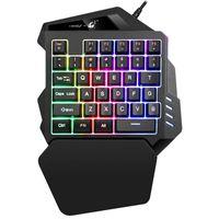 Tastiere Ziyou Lang Adatto per K13 Tastiera meccanica portatile con una sola mano Keyboard con la mano sinistra con led cablato