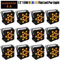 kulüp Ses Aktif Disco Sahne Işık TIPTOP 12 Adet LED Par 12x15w RGBWA ile DMX512