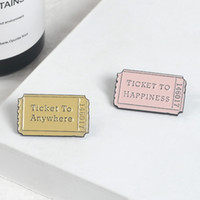 New Tickets Happiness Anywhere Pins Vintage Ticket Brooches ...