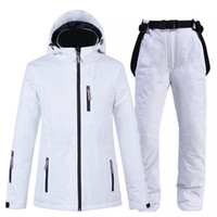 Winter Waterproof Skiing Jackets And Pants Breathable Hooded...