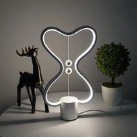 7 Farben Heng Gleichgewicht Lampe LED-Nachtlicht USB Powered Wohnkultur Schlafzimmer Büro-Tabellen-Nachtlampen-Licht C0930