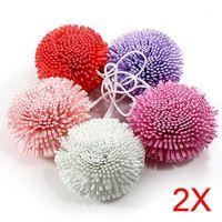 Atacado- 2 pcs novo banho / chuveiro corpo esfoliado sopro esponja de esponja de eva colorido bola de banho tb sale1