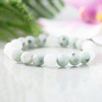 MG1066 Aromathérapie Diffuseur Bracelet Huile Essentielle Bijoux Anxiety Relief Bracelet Kiwi Mala Mint Green Yoga Bracelet