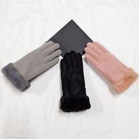 Cuir hiver doigt gants de ski écran tactile femmes gants épaissies gants de ski sport couleur solide douce bonne qualité DHL