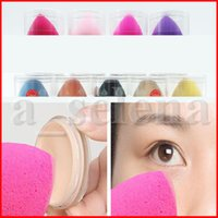 Maquillage éponge femmes cosmétiques kits d'outils de maquillage lisse éponge base pour le maquillage pour les soins du visage avec la boîte