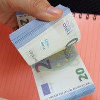 Bar Prop Coin Simulación de venta caliente 10 20 50 100 EURO FAKE FAKE MONEY TOY MONEDA CINEA Y TELEVISIÓN DE TELEVISIÓN Billete de práctica Billete de banco