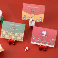 Рождественская открытка мультфильм с Рождеством Бумага конверт с сообщением Открытка с сообщением Поздравительная открытка Письмо Стационарный подарок HWA1979