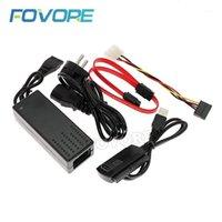 """SATA PATA IDE Drive to USB 2.0 Adapter Converter Cable para disco duro disco duro de disco duro 2.5 """"3.5"""" con adaptador de alimentación de CA externa1"""