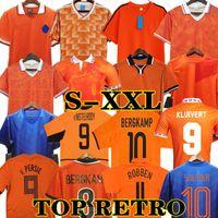 Gullit 1988 Retro Países Baixos Futebol Jersey 2012 Van Basten 2010 2000 2002 1998 1994 90 92 Holland Vintage Camisas Clássico 1996 Rijkaard Davids