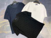 Mans Diseñador Primavera Verano Jacquard Punto Cartas Tee T Shirt Moda Sudaderas Con Sudaderas Hombres Mujeres Casual Algodón Camisetas Negro Blanco