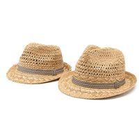 Infinitlove Yaz Moda El Yapımı Kadın Plaj Boho Fedora Hasır Şapka Güneş Şapka Sunhat Erkekler Caz Şapka Gangster Kap (Bir Boyut: 58 CM) PS0125