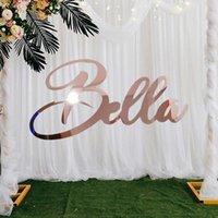 حزب الديكور مخصص ارتفع الذهب اسم علامة شخصية الاكريليك الزفاف علامات babyshower ديكور خلفية شماعات