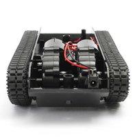 Robot Tank Inteligentny Robot Car Car Car Carsis Zestaw Gumowy Track Crawler dla AR DUI No 130 Motor DIY Robot Zabawki dla dzieci 3-7V 201208