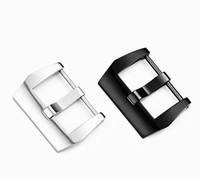 Accesorios de relojes de moda Reemplazo Panerai Acero inoxidable Pin Hebilla Corrí Cinturón negro Black Cepillado Hebilla de acero 18 20 22 24 26mm