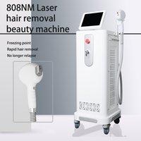 آلة إزالة الشعر ديود ليزر 808 360 درجة عجلات مقومة 808nm آلات اليابان ضاغط نظام التبريد CE 30 مليون طلقات