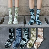 Mens Tie-Farbstoff Lange Socken Mode Hip Hop Style Street Socken Jugend-Sport-hohe Socke 2020FW Fashion Street Hot Sale