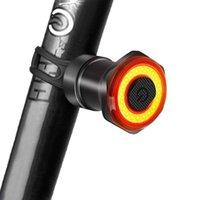 Bike Lights Smart Fahrrad Rücklicht Auto Start Stop Brake IPX6 Wasserdichte USB-Ladung 6 Modi Radfahren Heckrünstig für Nachtreiten