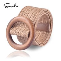 Earnda New PP Grass Weaving Belts Men and Women Belts Buckle...