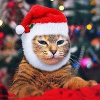 Рождественская собака кошка шляпа собака шляпы аксессуары для маленьких собак вечеринка одеваются костюм головные уборы кепки Jlllem