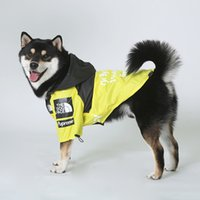 Raincoat Clothes Windproof Cat Jacket Fashion Waterproof Reflective Pet Clothing Large Pets Coat The dog Face 201026