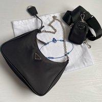 Re Edition 2005 Nylon Designer Bolsa de hombro de alta calidad Cuero de Cuero Diseñador Best-Selling Lady Cross-Cuerpo Bolsa de Lujo Bolsa de Cadena Tote