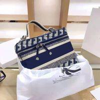 Top designer de luxo luxo bolsa bolsa senhoras 25 cm saco cosmético bolsa de ombro tecido bordado bolsa de moda de alta qualidade saco diagonal de alta qualidade
