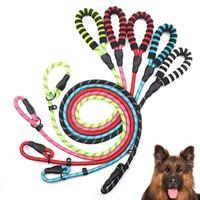 الكلب الياقات المقاود الحيوانات الأليفة اليد العاكسة عقد حبل النايلون المواد مريحة قوية دائم متعدد الألوان الإمدادات المحمولة
