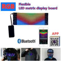 Tablero de pantalla flexible de matriz flexible de color led, pantalla publicitaria de 12 * 36RGB, aplicación Bluetooth Edición de teléfonos móviles de iluminación de la máscara facial