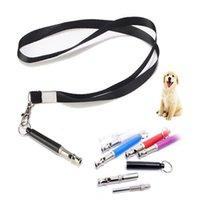 Colory Candy Color Color Dog Sifflet Arrêtez Barking Silent Silent Ultrasonic Sound Regeller Formation de train avec bracelet
