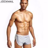 Jockmail шелковистые округлые боксерские шорты сексуальные брюкисодержащие качества человека нижнее белье боксер шорты спящие одежды1
