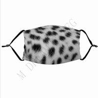 3D-дизайнер печати Маски с фильтром Карманный Тигр Leopard Design Funny Face Mask Защитный Ухо висящих Покрытие части лица Маски HHB2208