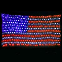 الصمام العلم الأمريكي صافي ضوء الولايات المتحدة العلم الوطنية مهرجان للماء شنقا سلسلة مصباح للمنزل حديقة عيد الميلاد ديكور