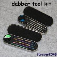 106-121MM DAB Tool Kit Kit Wax Dabber Набор с алюминиевой подарочной коробкой Упаковка для титанового ногтей сухой травяной вауризатор Peen Glass Water Bong