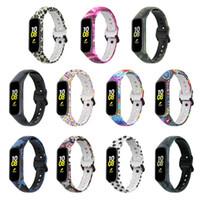 För Samsung Galaxy Fit 2 SM-R220 Klockband Byte Målad Blomstrem Armband Mjuk Silikon Armband Strap Heart Rate Smart Fitness