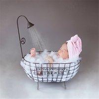 Baby Boy Fotografia Puntelli Iron Vasca da bagno Baby Photo Foto Accessori Foto Foto Puntelli Recient NACIDO Cestino per il letto appena nato LJ201105