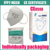 FFP2 CE 인증 마스크 KN95 디자이너 페이스 마스크 N95 호흡 보호구 필터 안티 - 안개 헤이즈 및 인플루엔자 방진