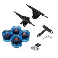 Bysork Skateboarding 7 дюймов Longboard Грузовые колеса набор 4 шт. PU 8 шт. Подшипник T Skateboard Tool Combo Combo