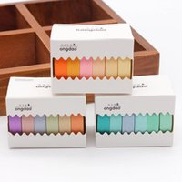 6 Rollen / Set 9mm Craft Solid Color Washi Tape Book Decoration DIY Adhesive Paper Scrapbook Stickers voor Home Christmas Decoration1