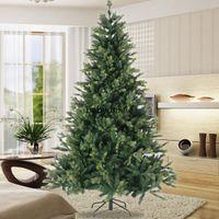 US STOCK 7.5ft abete artificiale di Natale di alta qualità PE Albero Di Natale Con Solid pieghevole basamento del metallo W49819950