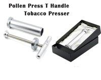 Pollen-Presse T-Griff Edelstahlhöhe Großer Tabakkompressor-Näher Zinklegierung Brecher-Mühle für Bong Shisha Raucherzubehör