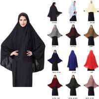 Musulmán Black Face Cubierta Niqab Burqa Bonnet Islámico Khimar Ropa Long Hijab Loop Bufanda Mujeres Pañal ABAYA Robes Kimono Arab1