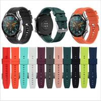 Utbytbara klockband för Huawei Watch GT 2 46mm / GT Aktiv 46mm / Honor Magic Silikonband Band GT2 Officiell stilarmband