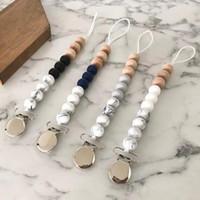 Silicone Bead Perles Titulaires de la sucette nouveau-née Chaînes de sucette Clips Baby Dentition Porte-mamelon Enfants Chew Beech Toys YL258