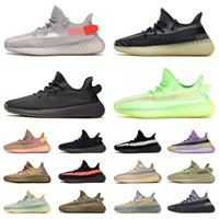 yeezy boost Kanye West yeezys yezzy yezzys boots sapatas Running das mulheres dos homens Ar livre Tennis Luz Traseira Asriel Reflective zebra homens moda formadores jogging Walking