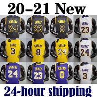 2021 LeBron James 23 Anthony Kyle Davis Kuzma Los Angeles Lakers Kobe 24 Bryant 8 Basketball Jersey Earvin Johnson Shaquille