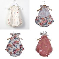 Baby Ramper Floral Print Playsuit Verano Bebé Moda Ropa Outwear Sunsuit Infantil Lindo Accesorios Jumpsuit Buena calidad 581 K2