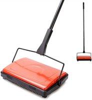 Mão push varredores cleanhome tapete piso varredor limpador para home escritório tapetes tapetes subcoat poeira restos de papel limpeza com pincel1